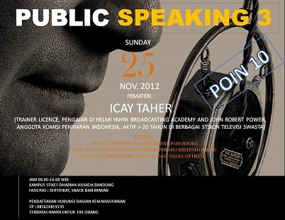 PUBLIC SPEAKING CLASS SESI 3