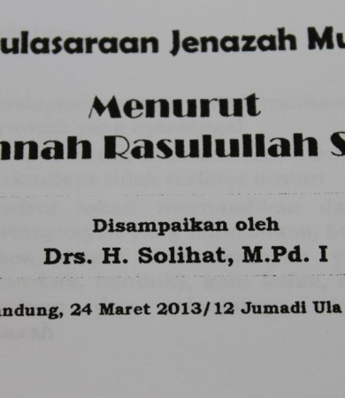 PELATIHAN PEMULSARAN JENAZAH