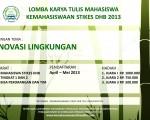 LOMBA KARYA TULIS MAHASISWA 2012/2013