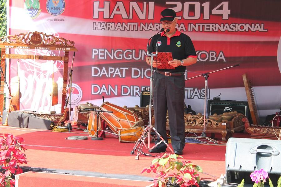 Sambutan Kepala BNN Provinsi Jawa Barat