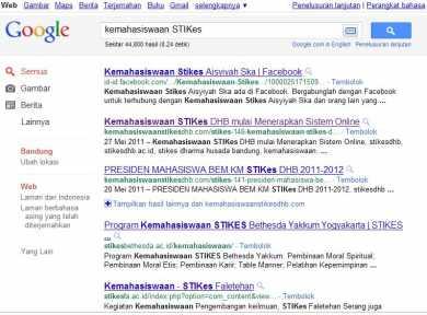 Dihalaman 1 Google Search Engine